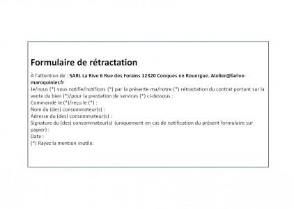 Formulaire de rétractation E01