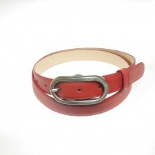 Ceinture cuir souple rouge largeur 25 mm